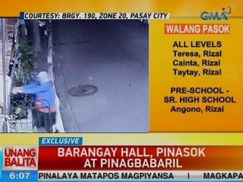 UB: Barangay hall sa Pasay, pinasok at pinagbabaril