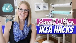 SMALL SPACE ORGANIZING 💙 Turning a Closet into an Office with IKEA Hacks!