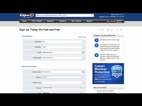 Copart Home Page >> Copart Tutorial Register Sign In Change Password Updated Youtube