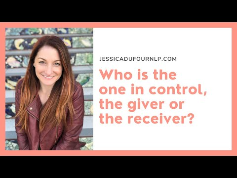 The receiver controls what the giver can give