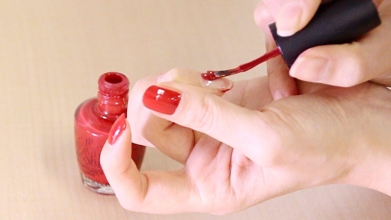 セルフネイルの基本☆マニキュアをキレイに塗る方法~ワンカラー編~ , YouTube