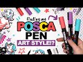 TWEAKING MY STYLE TO WORK WITH POSCA PENS!? | Scrawlrbox Unboxing