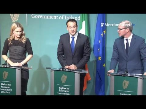 Taoiseach, Tánaiste and Minister McEntee - Brexit Press Briefing
