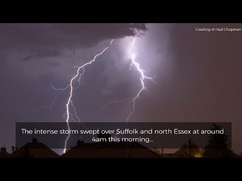 Intense storms sweeping over East Anglia