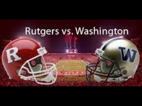 2017 Washington Huskies vs Rutgers Scarlet Knights Simulation