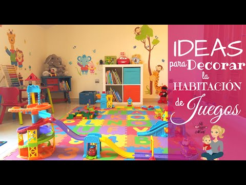 IDEAS para DECORAR una HABITACIÓN INFANTIL DE JUEGOS / KIDS PLAYROOM ...