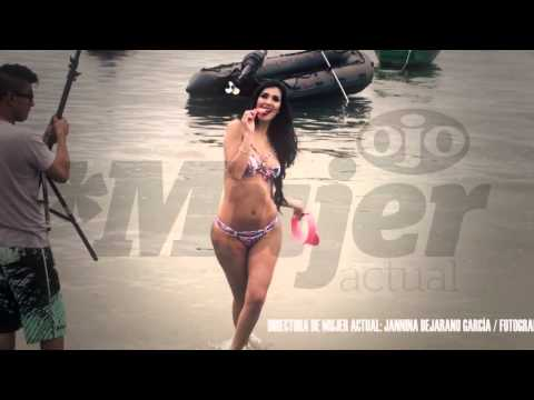 Silvia Cornejo, una sirena en la playa