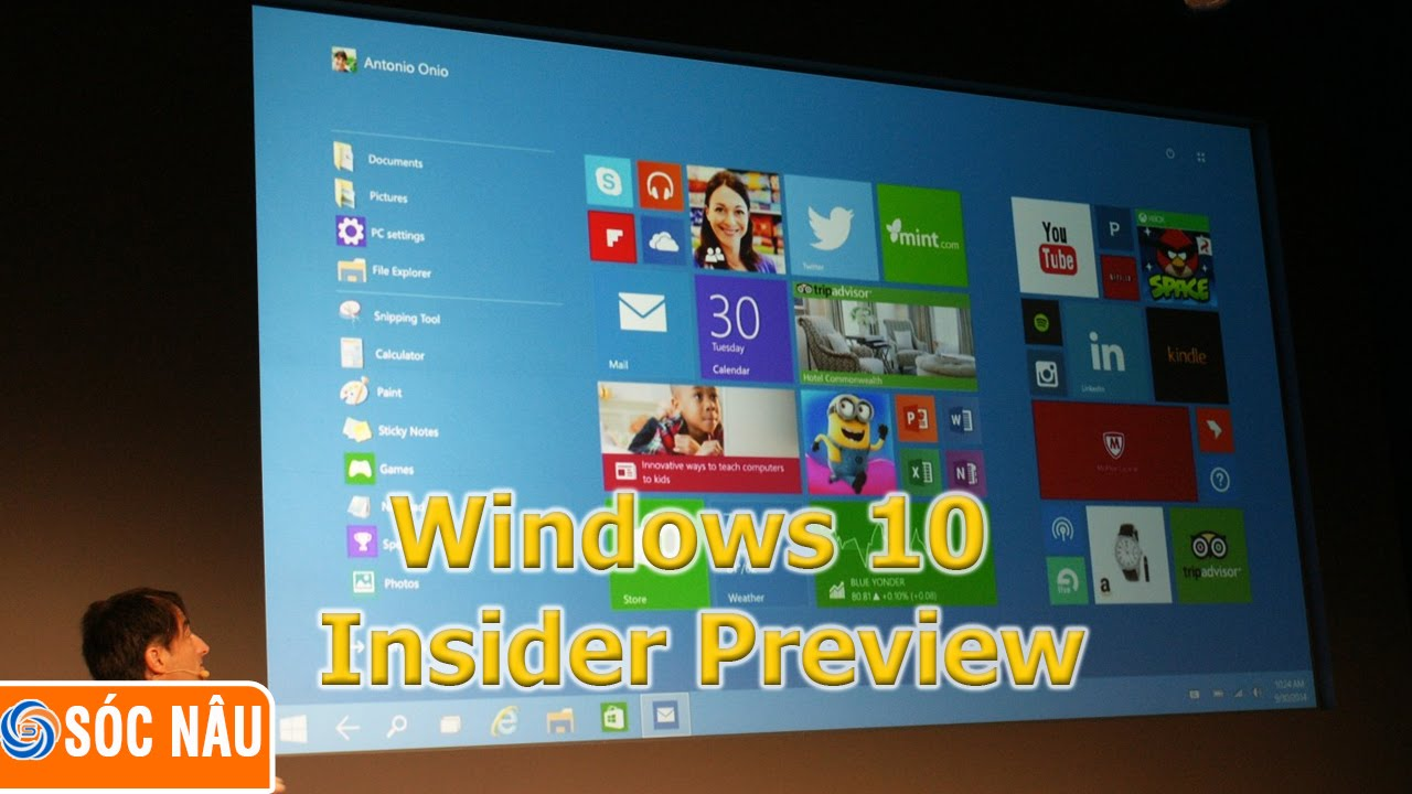 Cách tải Windows 10 Insider Preview