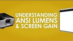 ANSI-Lumen, GAIN und Foot Lambert verständlich erklärt von Elite Screens