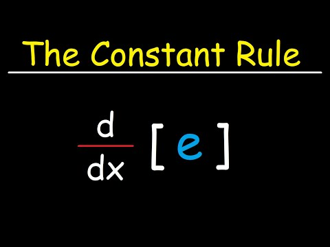 The Constant Rule For Derivatives