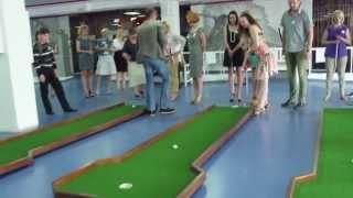Фрагменты презентации бизнес-проектов и турнира по мини-гольфу 17.05.2014г.
