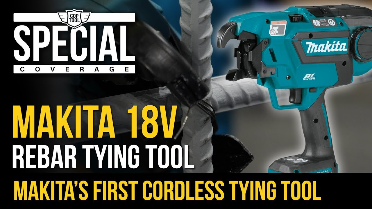 db592b8cfe5d New Makita 18V LXT Cordless Brushless Rebar Tying Tool XRT01TK - YouTube