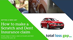 How to make an scratch and dent insurance claim