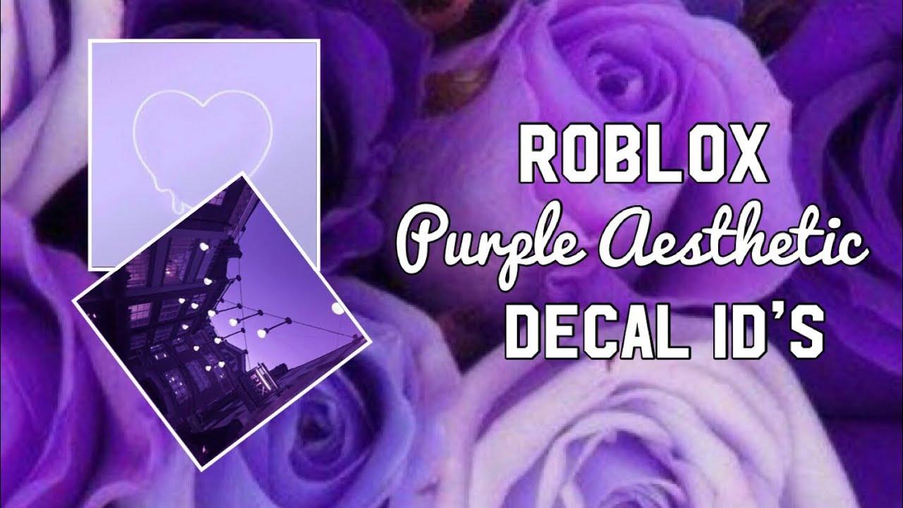 Roblox Purple Aesthetic Decal Id S Youtube