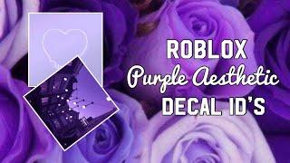 Roblox Purple Aesthetic Decal ID