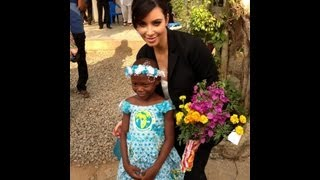 Kim Kardashian Visits African Orphanage