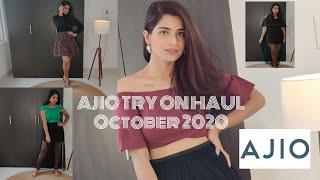 Ajio Try On Haul 2020 T shirts Tops Skirt Mens T shirt