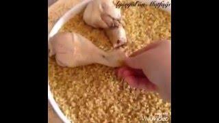 Fırında Tavuk Bagetli Bulgur Pilavı