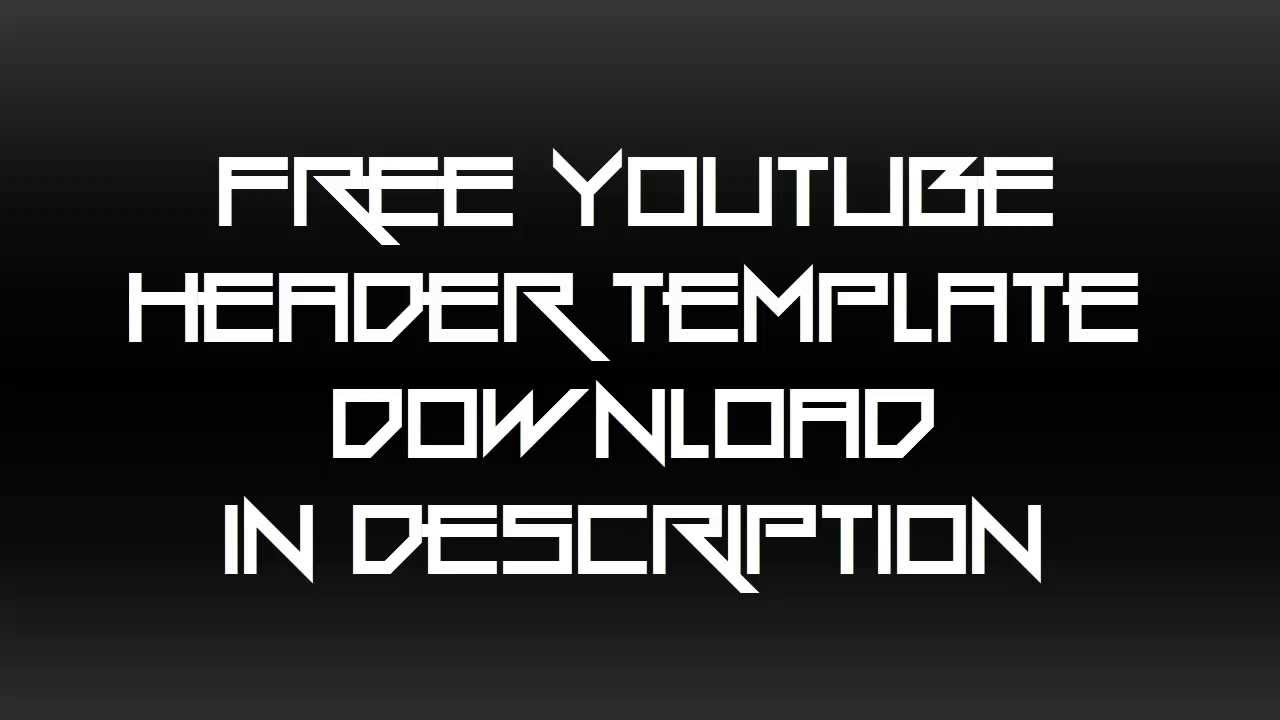Free Youtube One Channel Header Template June 2013 + Channel ...