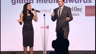 Naya Rivera & Cory Monteith of Glee host the GLAAD Media Awards #glaadwards