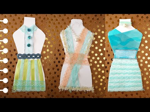 Simple Crafts for Kids Handmade Paper Doll Clothes - Ribbon Dresses!.