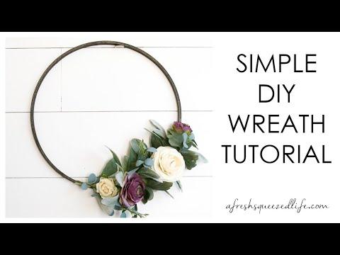 MODERN And SIMPLE Hoop Wreath Tutorial