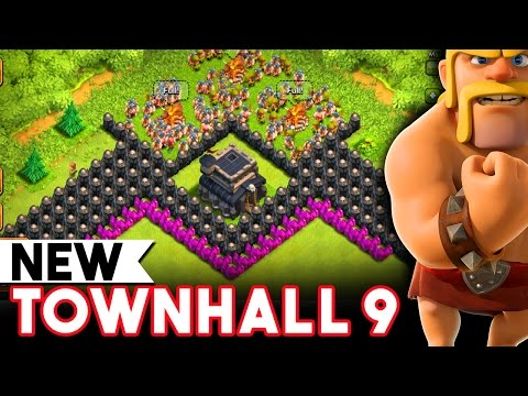 Clash of Clans  - TH9 FARMING  - NEW UPGRADE - TOWNHALL 9 GAMEPLAY