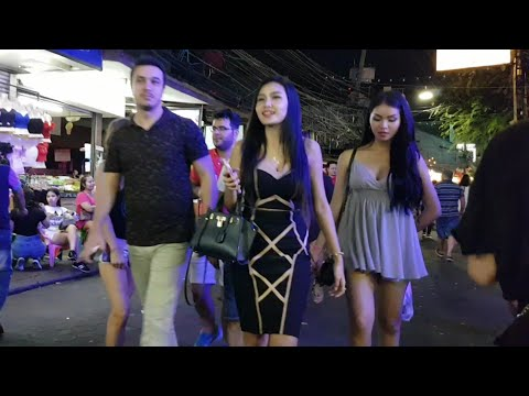 Pattaya Thailand Walking Street After Midnight Mayhem