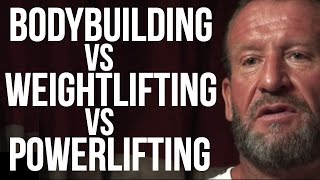 BODYBUILDING vs WEIGHTLIFTING vs POWERLIFTING - Dorian Yates on London Real