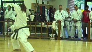 Shotokan Kata Sochin performed by Brianne Lawton