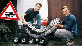 Wir bauen einen PANZER aus unserem BOLLERWAGEN! #1