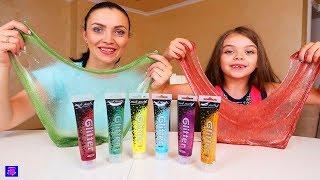 3 CULORI DE LIPICI SLIME CHALLENGE 3 Colors of GLUE Slime Challenge!