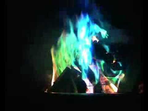 Mystical colour changing fire - YouTube