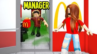 I Got A Job At McDonalds.. Manager Was POISONING Food! (Roblox Bloxburg)