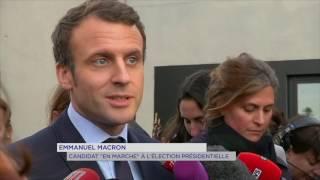 """""""En Marche"""" : Emmanuel Macron vient séduire l'électorat des quartiers aux Mureaux"""