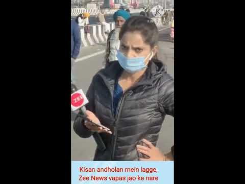 Kisan andholan mein lagge, Zee News vapas jao ke nare, Hum kisan hai atankvadi nahi.