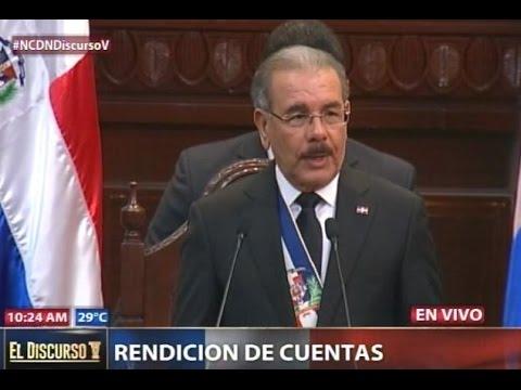 Discurso del presidente Danilo Medina en Rendición de Cuentas