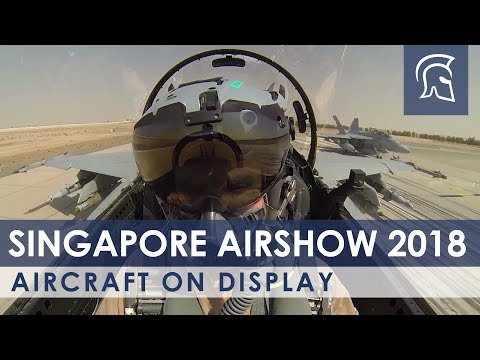Aircraft On Display At Singapore Airshow