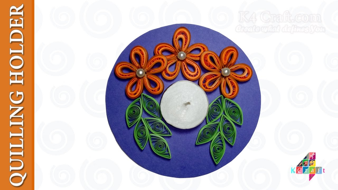 Quilling Candle And Diya Stand Decoration Ideas For Diwali K4 Craft