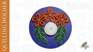 DIY: Handmade paper quilling floating Diwali Diya - candle holder - Enrivonment Friendly