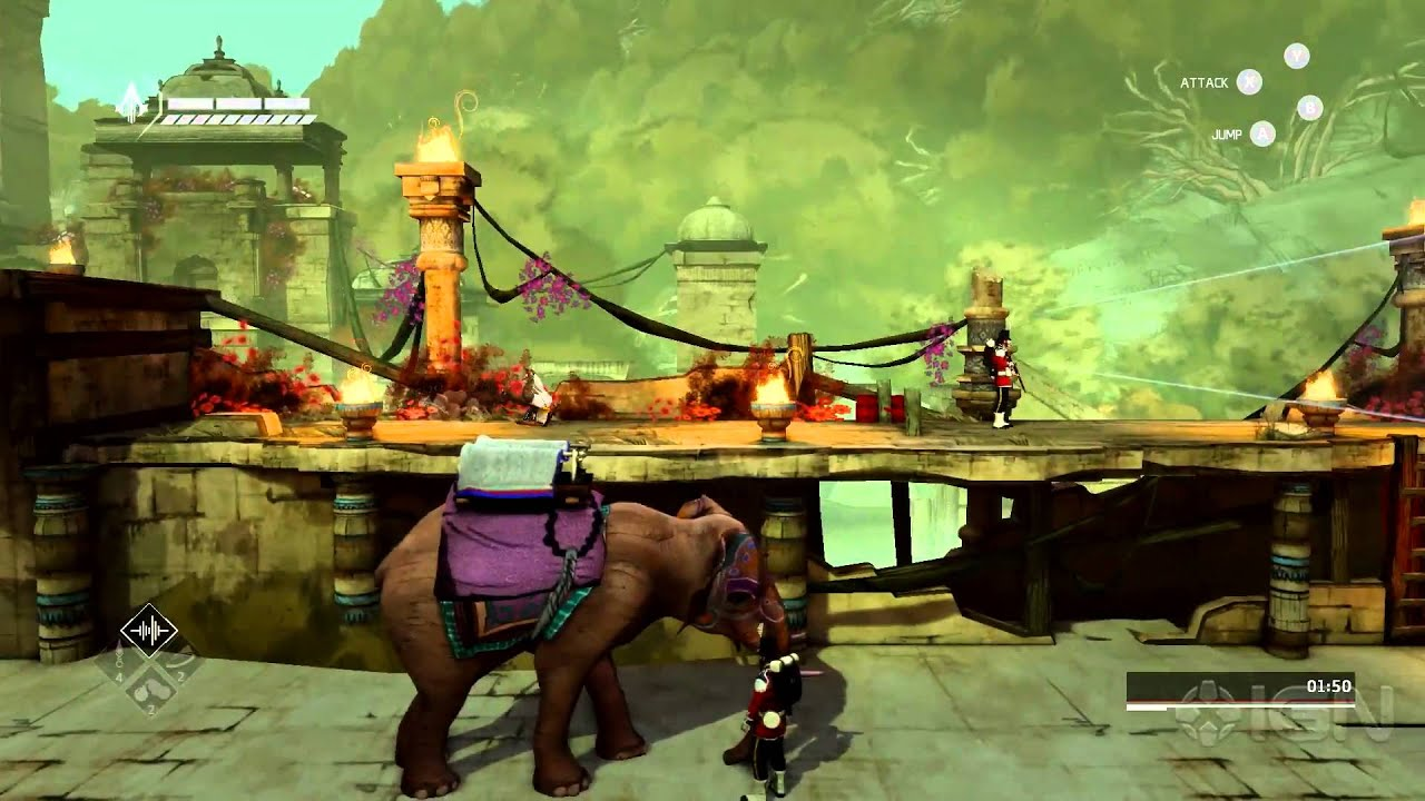 Assassin S Creed Chronicles India Elephant Escape Gameplay