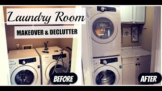 LAUNDRY ROOM MAKEOVER & DECLUTTER | Summer Whitfield
