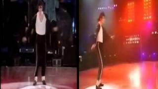 Michael Jackson Billie Jean Live in Bucharest HBO vs BBC Version Split Screen 1992