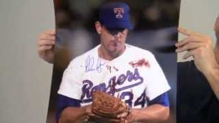 Autographed Nolan Ryan 16x20 Bloody Lip Photo - Ryan Holo & PSA/DNA