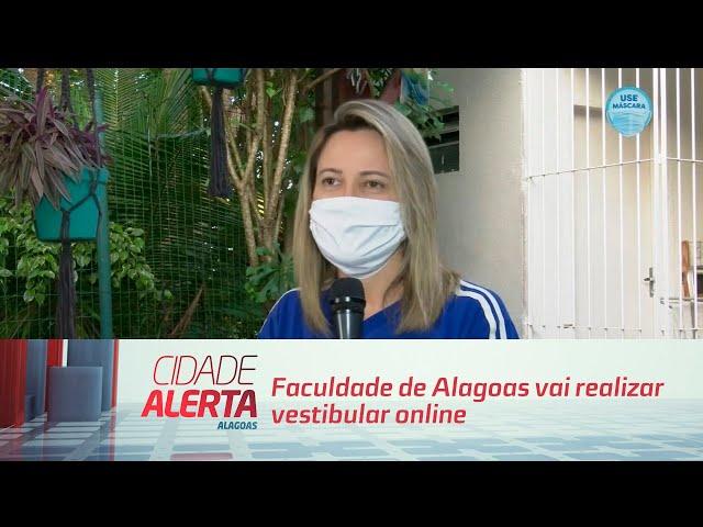 Faculdade de Alagoas vai realizar vestibular online