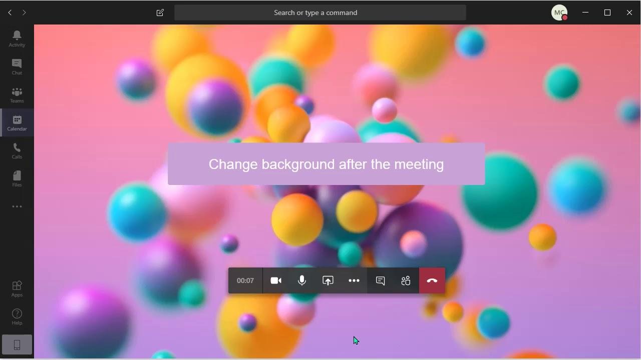 【Microsoft Teams】Teams Meeting - Change background image ...