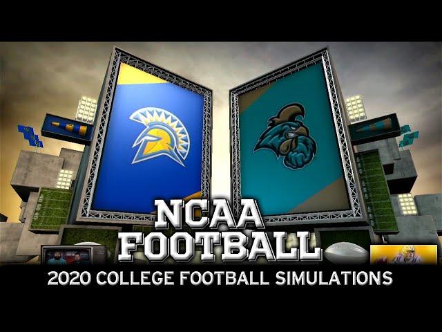 San Jose St vs Coastal Carolina 2020 NCAA Football Simulation