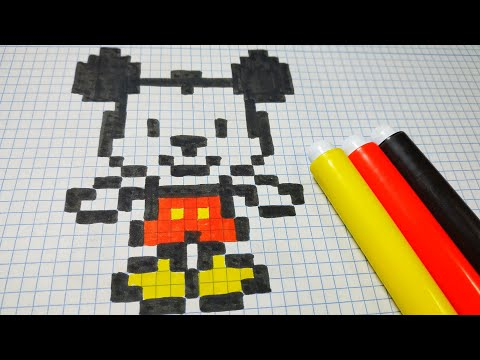 como dibujar a mickey mouse pixel art youtube. Black Bedroom Furniture Sets. Home Design Ideas