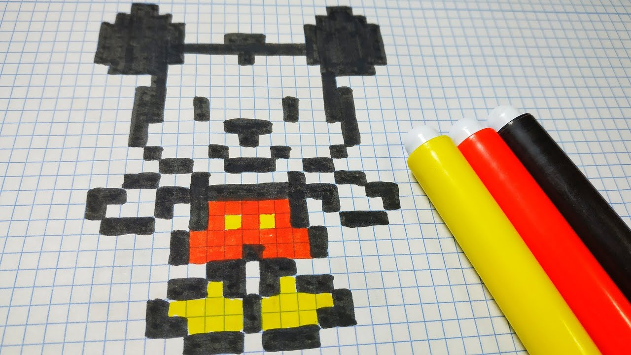 Mickey Mouse Pixel Art como dibujar a mickey mouse | pixel art