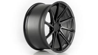 TSW Alloy Wheels - the Watkins in Double Black Matte Black W Gloss Black Face